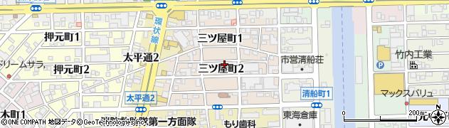 愛知県名古屋市中川区三ツ屋町周辺の地図