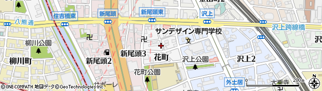 愛知県名古屋市熱田区花町周辺の地図