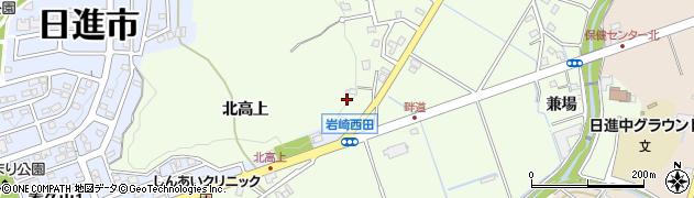 愛知県日進市岩崎町(北高上)周辺の地図