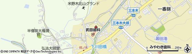 愛知県日進市三本木町(大根)周辺の地図