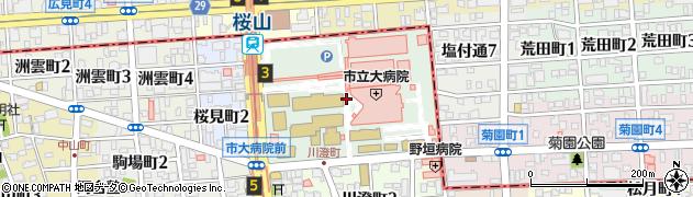 愛知県名古屋市瑞穂区瑞穂町周辺の地図