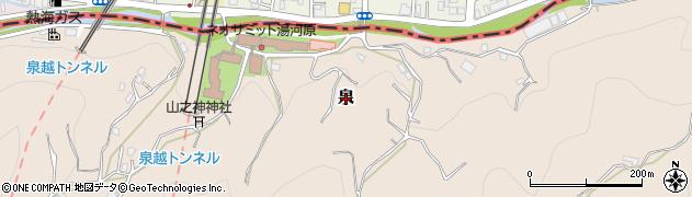 静岡県熱海市泉周辺の地図