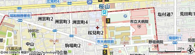 愛知県名古屋市瑞穂区桜見町周辺の地図