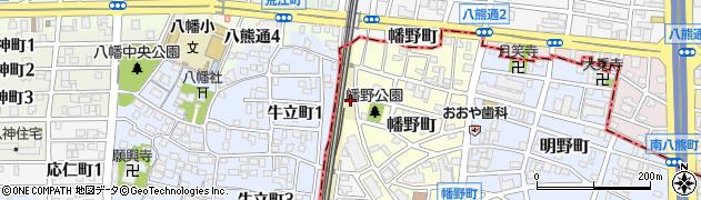 愛知県名古屋市熱田区野立町(海道畔)周辺の地図