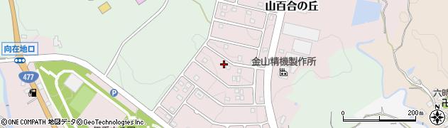 滋賀県大津市山百合の丘周辺の地図