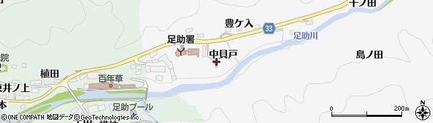 愛知県豊田市桑田和町(中貝戸)周辺の地図
