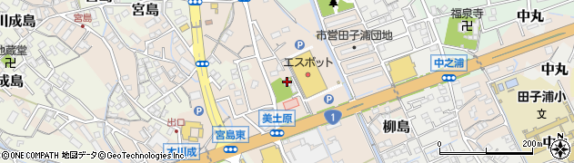 伝心寺周辺の地図