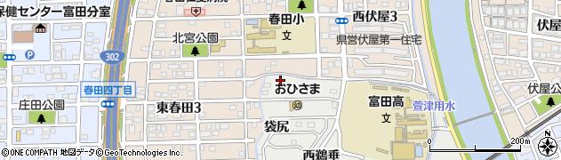 愛知県名古屋市中川区富田町大字榎津(宮海道)周辺の地図