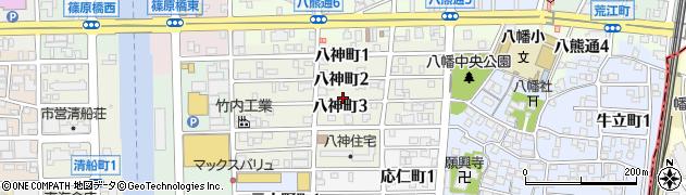 愛知県名古屋市中川区八神町周辺の地図