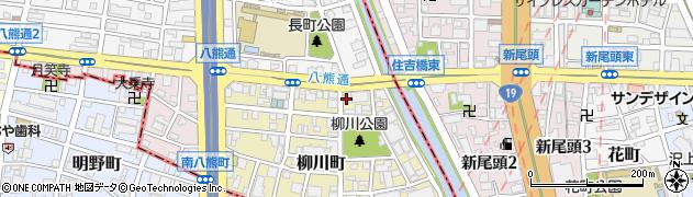 愛知県名古屋市中川区柳川町周辺の地図