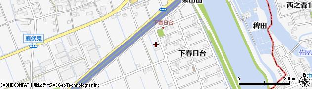 愛知県津島市鹿伏兎町(東清水)周辺の地図