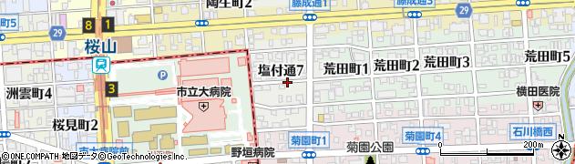 愛知県名古屋市昭和区塩付通周辺の地図