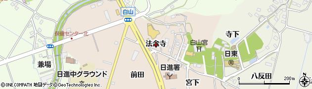 愛知県日進市本郷町(法念寺)周辺の地図