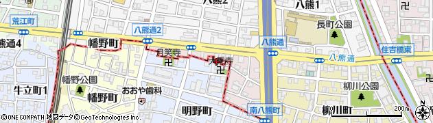 愛知県名古屋市熱田区南八熊町周辺の地図