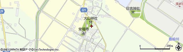 滋賀県東近江市大清水町周辺の地図