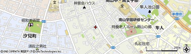 愛知県名古屋市昭和区南山町周辺の地図