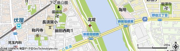 愛知県名古屋市中川区富田町大字前田周辺の地図