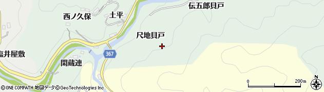 愛知県豊田市川面町(尺地貝戸)周辺の地図