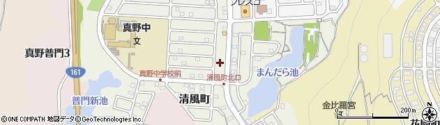 滋賀県大津市清風町周辺の地図