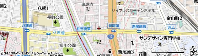 愛知県名古屋市熱田区新尾頭周辺の地図