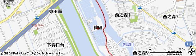 愛知県津島市鹿伏兎町(稗田)周辺の地図