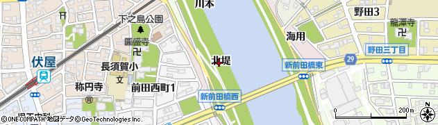 愛知県名古屋市中川区富田町大字前田(北堤)周辺の地図