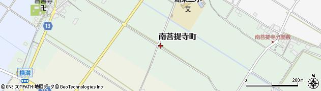 滋賀県東近江市南菩提寺町周辺の地図