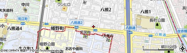 八熊 餃子屋周辺の地図