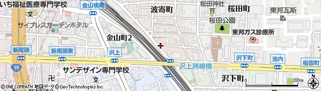 辰や 金山店周辺の地図