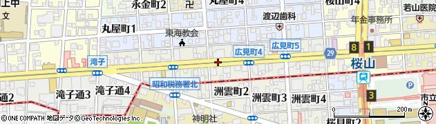 愛知県名古屋市昭和区広見町周辺の地図