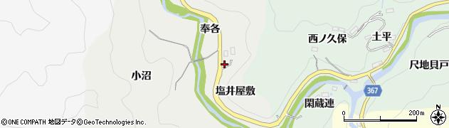 愛知県豊田市竜岡町(塩井屋敷)周辺の地図