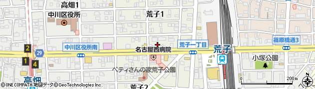 相羽四川荒子店周辺の地図