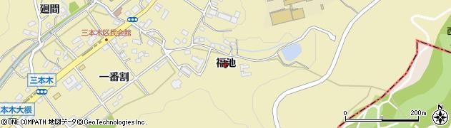 愛知県日進市三本木町(福池)周辺の地図