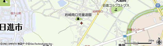 愛知県日進市岩崎町(南口)周辺の地図
