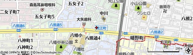 セブン周辺の地図
