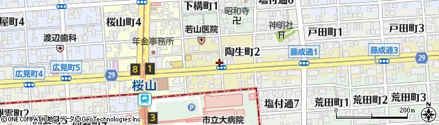 愛知県名古屋市昭和区陶生町周辺の地図