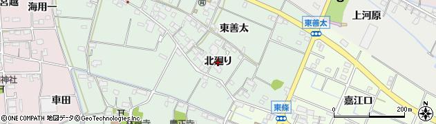 愛知県愛西市西條町(北廻り)周辺の地図