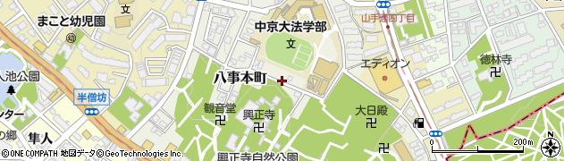愛知県名古屋市昭和区八事本町周辺の地図