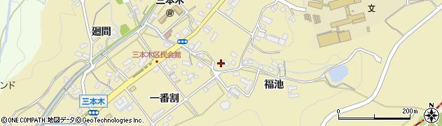 愛知県日進市三本木町周辺の地図
