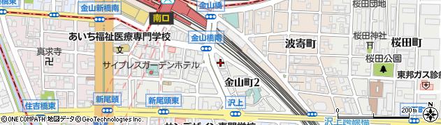 クラブ花苑金山店周辺の地図