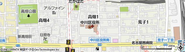 愛知県名古屋市中川区周辺の地図