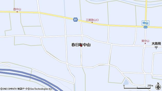 〒669-4265 兵庫県丹波市春日町中山の地図