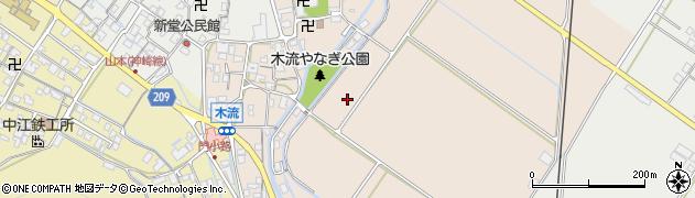 滋賀県東近江市五個荘木流町周辺の地図