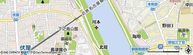 愛知県名古屋市中川区富田町大字伏屋(川本)周辺の地図