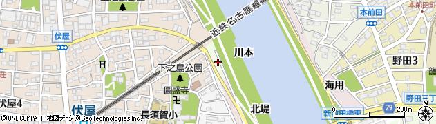 愛知県名古屋市中川区富田町大字伏屋(新田南ノ切)周辺の地図
