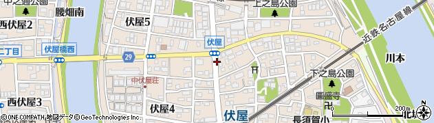 愛知県名古屋市中川区伏屋周辺の地図