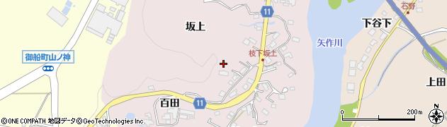 愛知県豊田市枝下町(坂上)周辺の地図