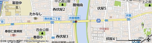 愛知県名古屋市中川区富田町大字伏屋(腰畑南)周辺の地図