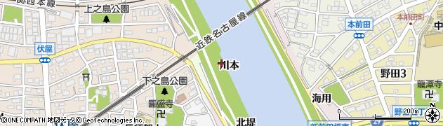 愛知県名古屋市中川区富田町大字伏屋周辺の地図