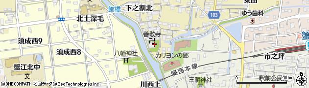 善敬寺周辺の地図